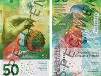 Die neue 50-Franken-Note bei der Schaffhauser Kantonalbank