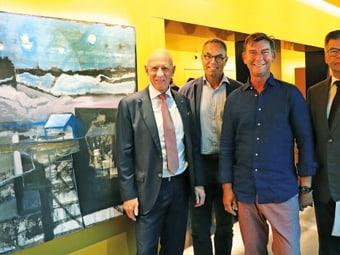Vernissage Tom Leonhardt bei der Schaffhauser Kantonalbank