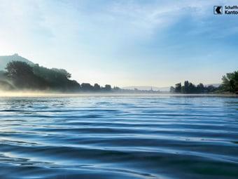 Blick auf den Rhein bei Stein am Rhein im Kanton Schaffhausen